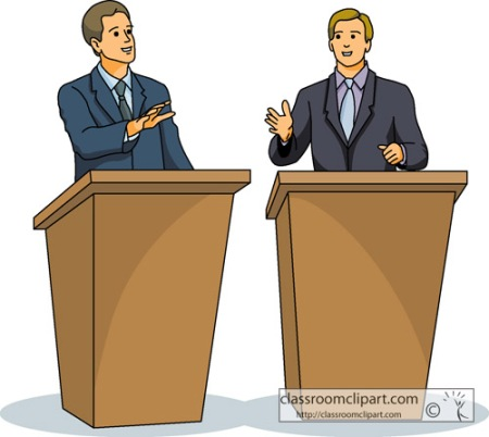Two Men Debating